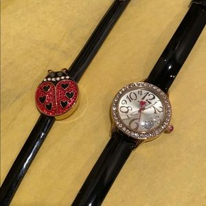 Betsey Johnson watch and bracelet